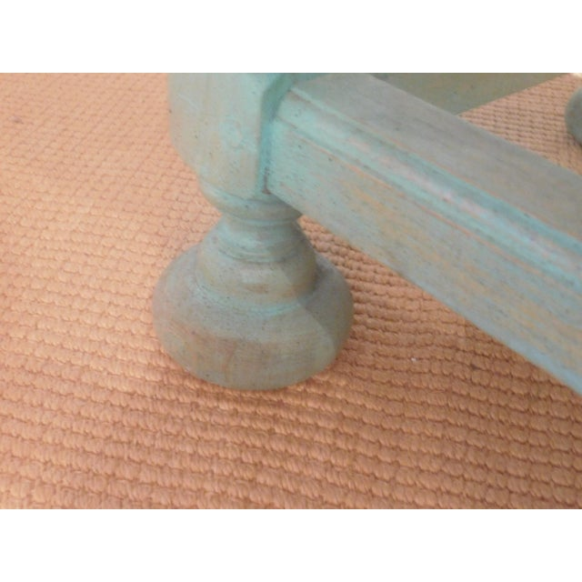 Painted Turquoise Table With Gold Glaze - Image 5 of 9