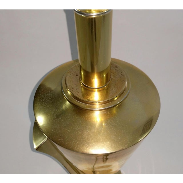 Image of Hollywood Regency Sculptural Brass Table Lamp