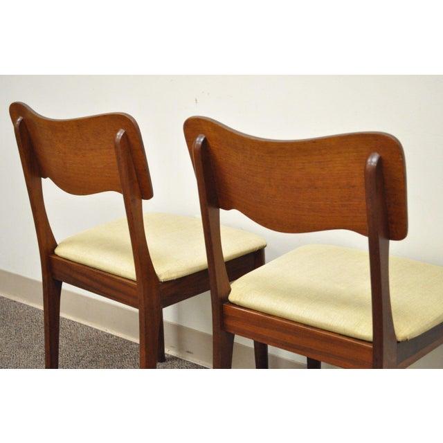 Gustav Bahus Norway Mid Century Danish Modern Teak Ribbon Dining Chairs - Set of 4 - Image 2 of 11