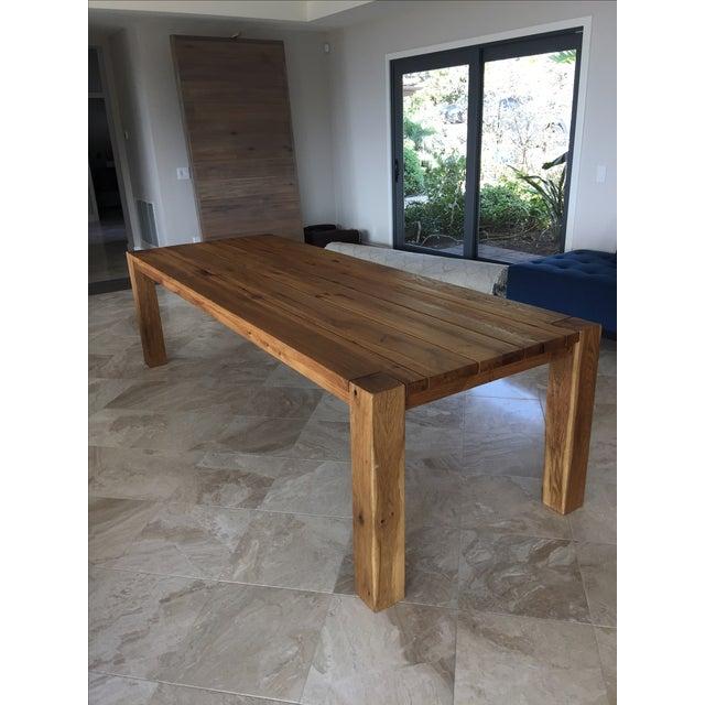 Restoration Hardware Natural Oak Dining Table Chairish