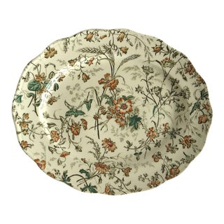 Antique Cauldon Wild Flower Platter