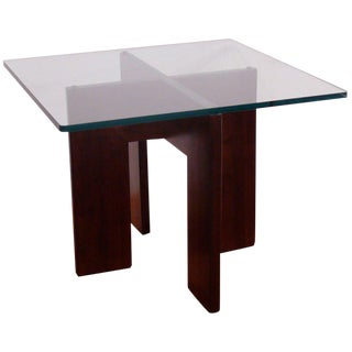 Adrian Pearsall Teak and Glass End Table
