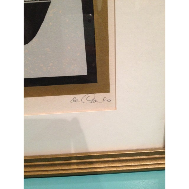 Framed De Carlo Cat Lithograph Print - Image 5 of 6