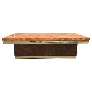 Cubist Faux Burlwood Coffee Table