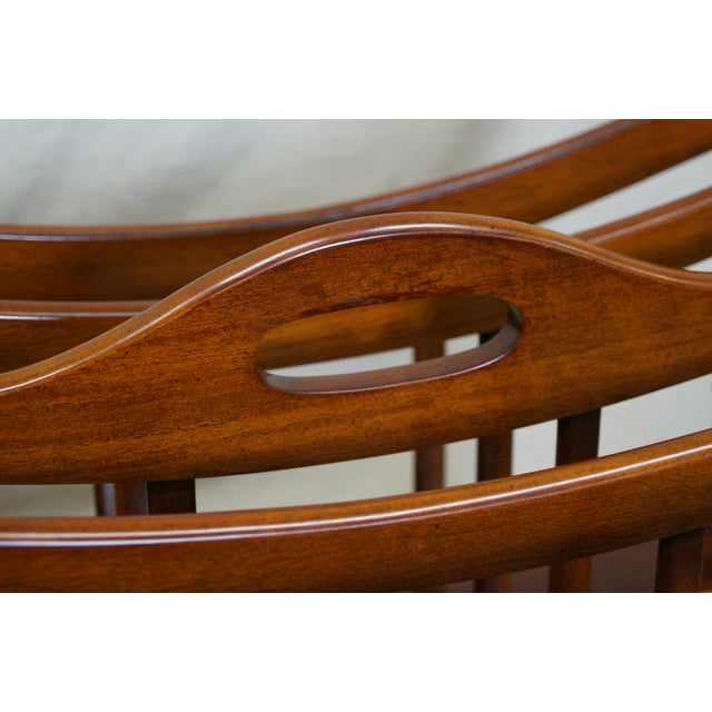 Maitland Smith Mahogany Magazine Stand - Image 10 of 10