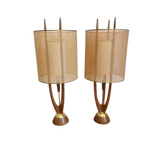 Modeline Mid-Century Table Lamps - Pair