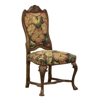 Traditional Floral Tapestry Dining Chair