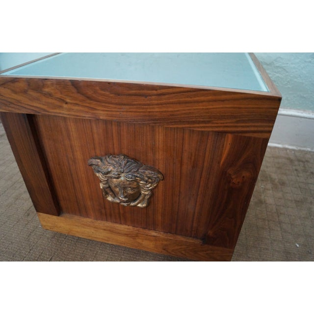 Solid Walnut Cube End Tables - A Pair - Image 8 of 10