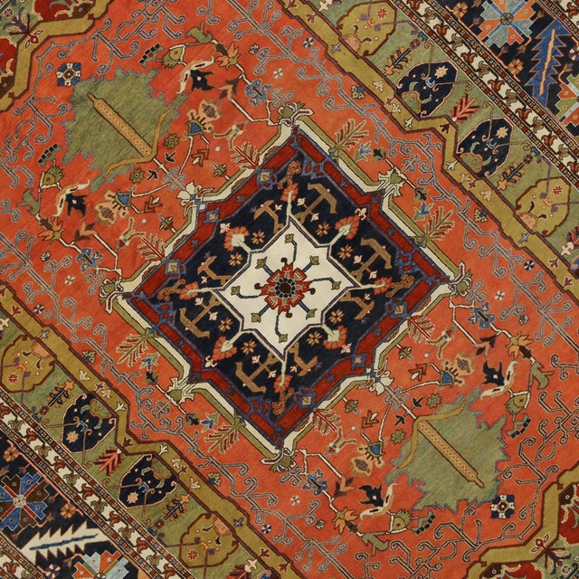 "Contemporary Persian Heriz Rug - 15' x 18'10"" - Image 5 of 9"