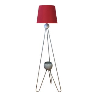 Mid Century Metal Floor Lamp