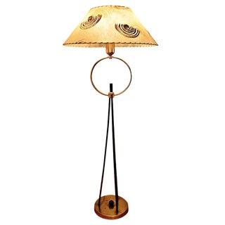 Mid-Century Circle Tripod Lamp