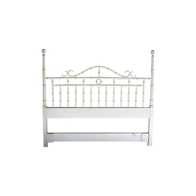 Drexel Regency Faux Bamboo Full Headboard - Image 1 of 7