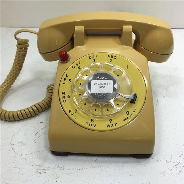 Yellow 500 Rotary Dial Desk Phone With Light - Image 11 of 11