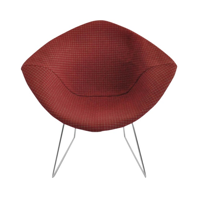 Harry Bertoia Diamond Dining Chair With Cover - Image 1 of 6
