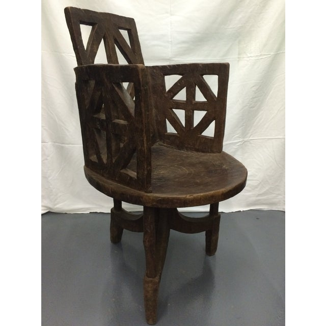 antique ethiopian jimma hand carved wooden chair chairish