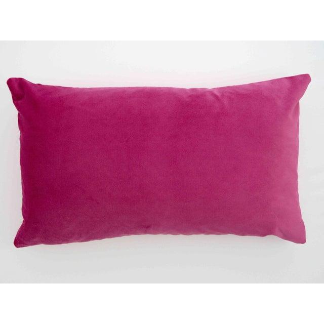 Italian Light Pink Velvet Polka Dot Lumbar Pillow - Image 4 of 5