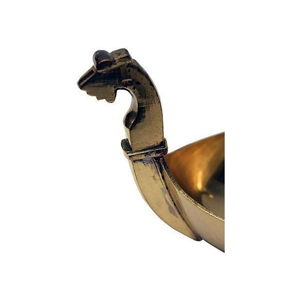 Image of Midcentury Modern Brass Double Dragon Dish