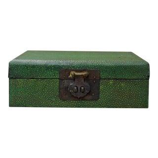 Chinese Green Patterned Rectangular Box