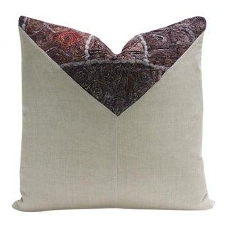 Zahi Metallic Embroidered Square Pillow