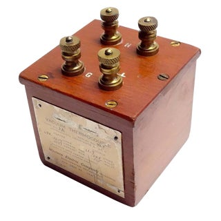 Vacuum Thermocouple Circa Early 20th Electrical Device. Display As Sculpture