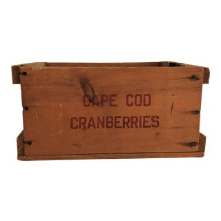 Vintage New England Cranberry Crate