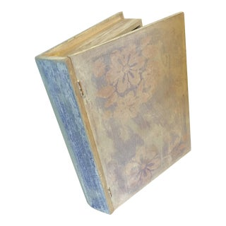 Distressed Chalk Painted Wooden Book Box