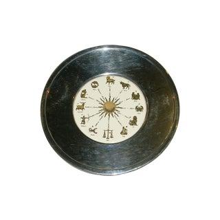 Blackenton Silverplate & Porcelain Zodiac Platter