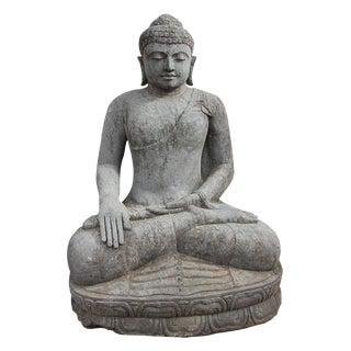 Large Stone Sitting Buddha Figure