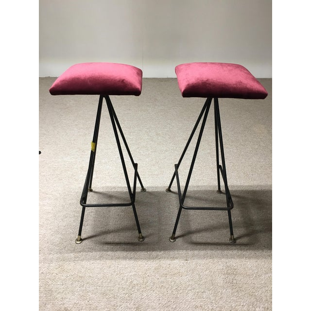 Adrian Pearsall Handmade #11 Bar Stools- A Pair - Image 3 of 3