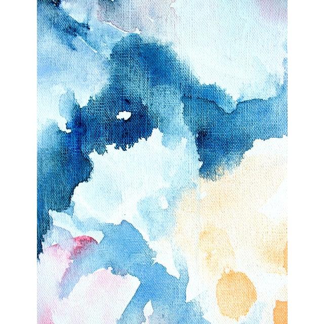 """Ellen Sherman """"Water Lilies"""" Original Painting - Image 5 of 5"""