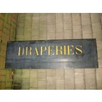 Image of 19th Century French Textile Shop Sign in Gilded Black Slate