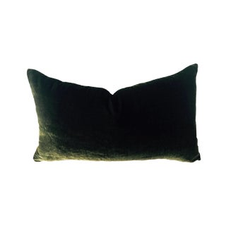 Moss Green Silk Velvet Pillow Cover