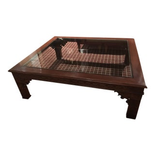 Ralph Lauren Wood and Glass Rare Coffee Table