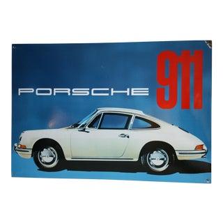 Enamel Porsche 911 Sign