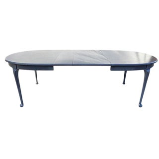 French-Style Dining Table in Grey Blue