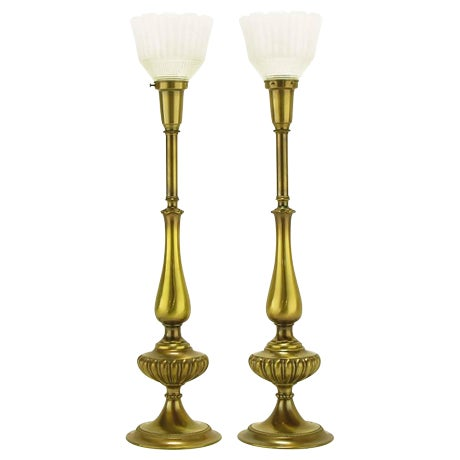 Pair of Rembrandt Lighting Solid Brass Regency Table Lamps - Image 1 of 5