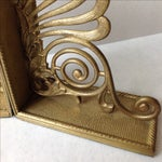 Image of Antique Brass Radius Bookends - A Pair