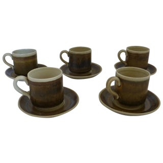 Vintage Swedish Cups & Saucers - Set of 5