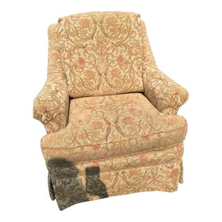 Century Furniture Gold Tapestry Armchair