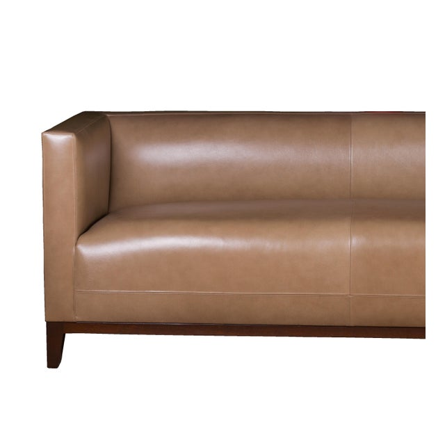 Custom Two-Piece Luxury Taupe Leather Sectional - Image 4 of 4