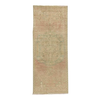 Vintage Distressed Turkish Oushak Runner Rug - 2′2″ × 5′10″