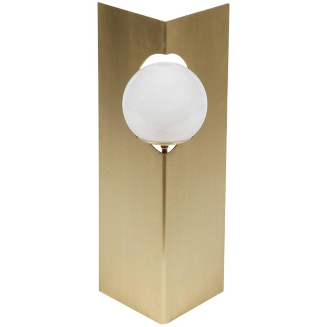 Image of Paul Marra Brass Solitaire Desk or Table Lamp