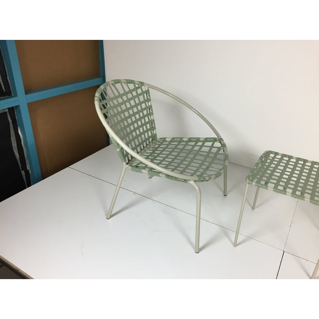 Mid-Century Green Hoop Chairs - A Pair - Image 6 of 8
