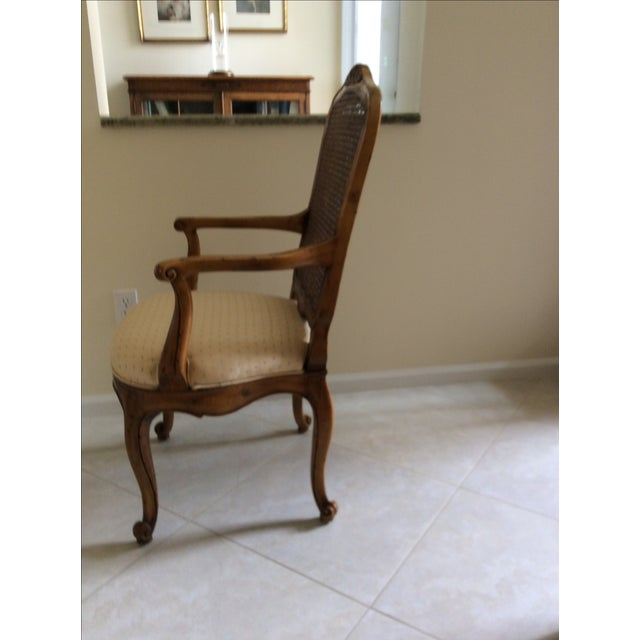 Henredon French Provincial Cane Back Dining Chairs 6
