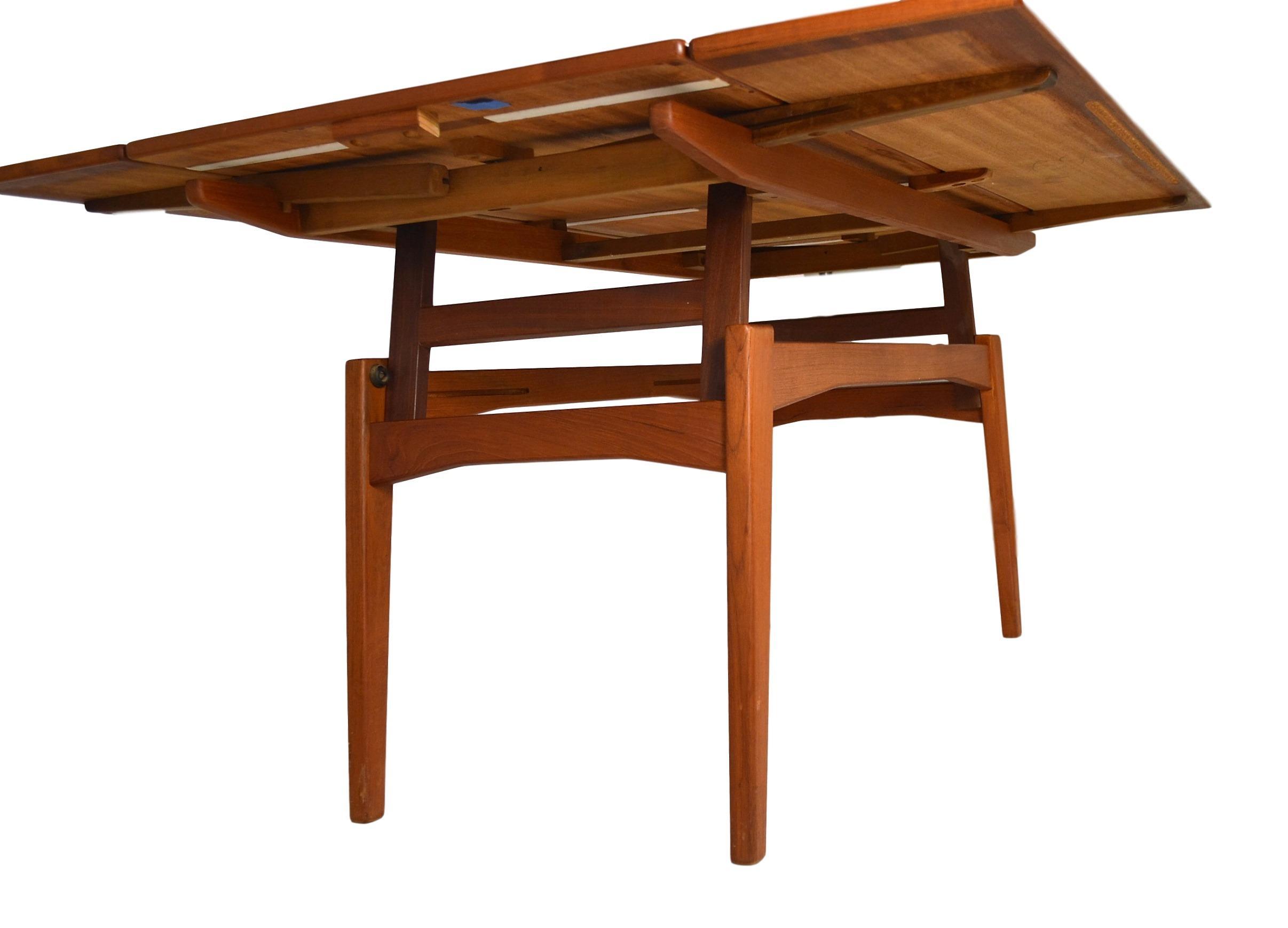 danish teak convertible dining coffee table image 3 of 8