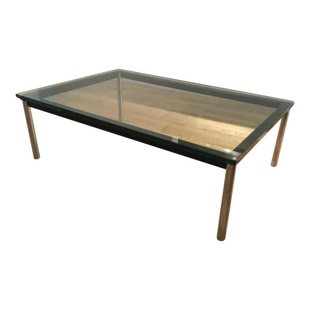 le corbusier lc10 p rectangular coffee table chairish. Black Bedroom Furniture Sets. Home Design Ideas