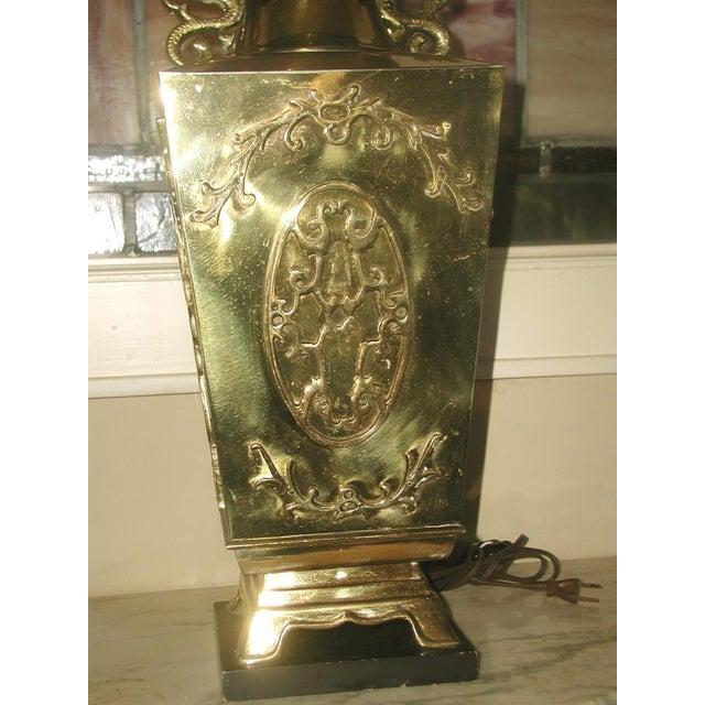 Brass Oriental Lamp Large, 3 Way Lighting - Image 6 of 9