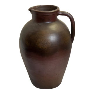 French Matte Brown Pottery Vase