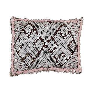 Moroccan Maroon & Soft Pink Sham