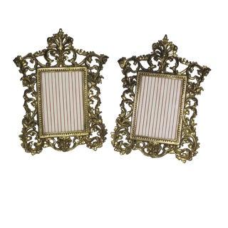 Ornate Brass Frames - A Pair